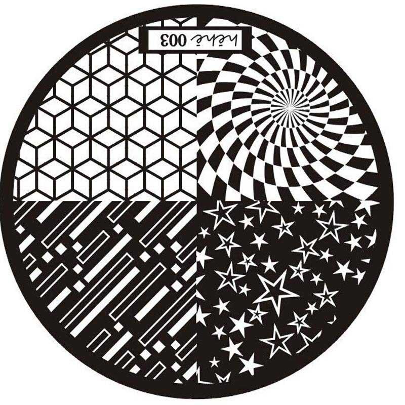 Us 037 5 Off2017 1pc Nagel Stempelplaten Stamping Plates Nail Art Stamping Prego Placa Placas De Estampar Unas Stencil Polishes Templates In Nail