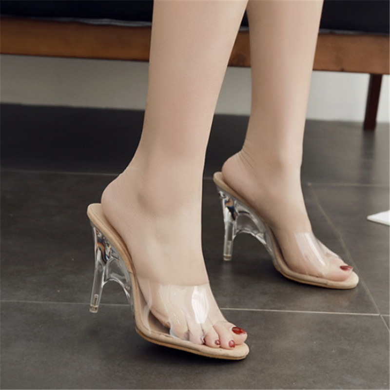 Clear Heels Ladies Sandals Women High Heels Fashion Transparent Sandals Women Pumps Summer Sandals