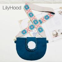 LilyHood Cute Pom Pom Wool Felt Shoulder Bag Handmade Floral Embroidery  Wide Strap Pink Tribal Bohemian ac6156561ff3