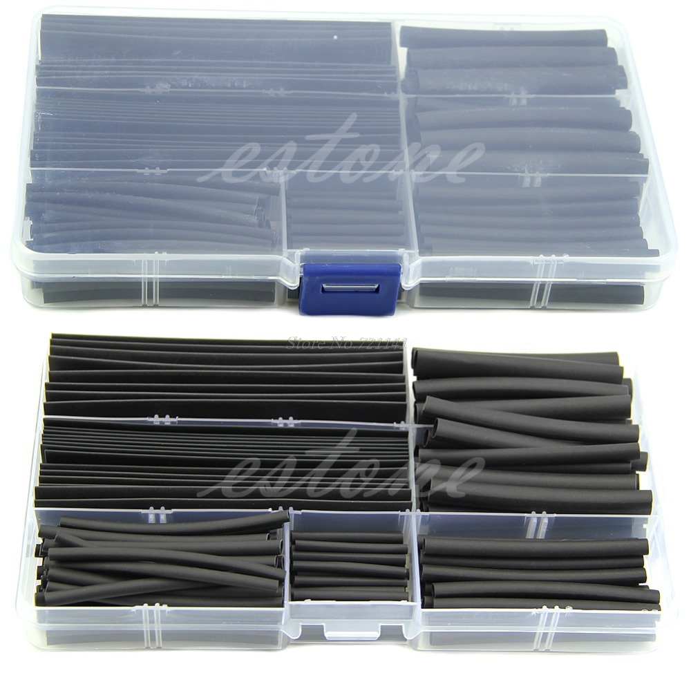 150pcs 2:1 Halogen-Free Heat Shrink Wrap Sleeves Tubing Tube Sleeving Wire Cable