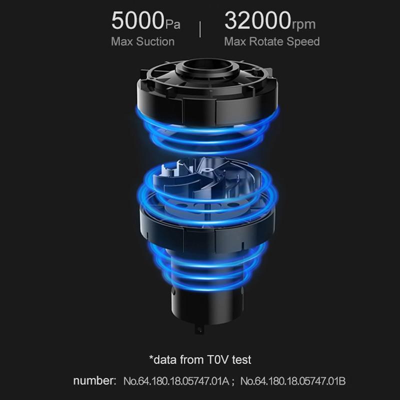 Xiaomi Cleanfly Autos Aspirateur 12 V 2A Portable De Poche voiture sans fil Aspirateur Humide et Sec À Double Usage Aspirateur De Voiture - 4