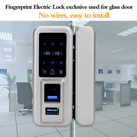 OBO HANDS brand Glass door fingerprint lock can be used for home and office With Touch Keypad Smart MF Card electronic door lock
