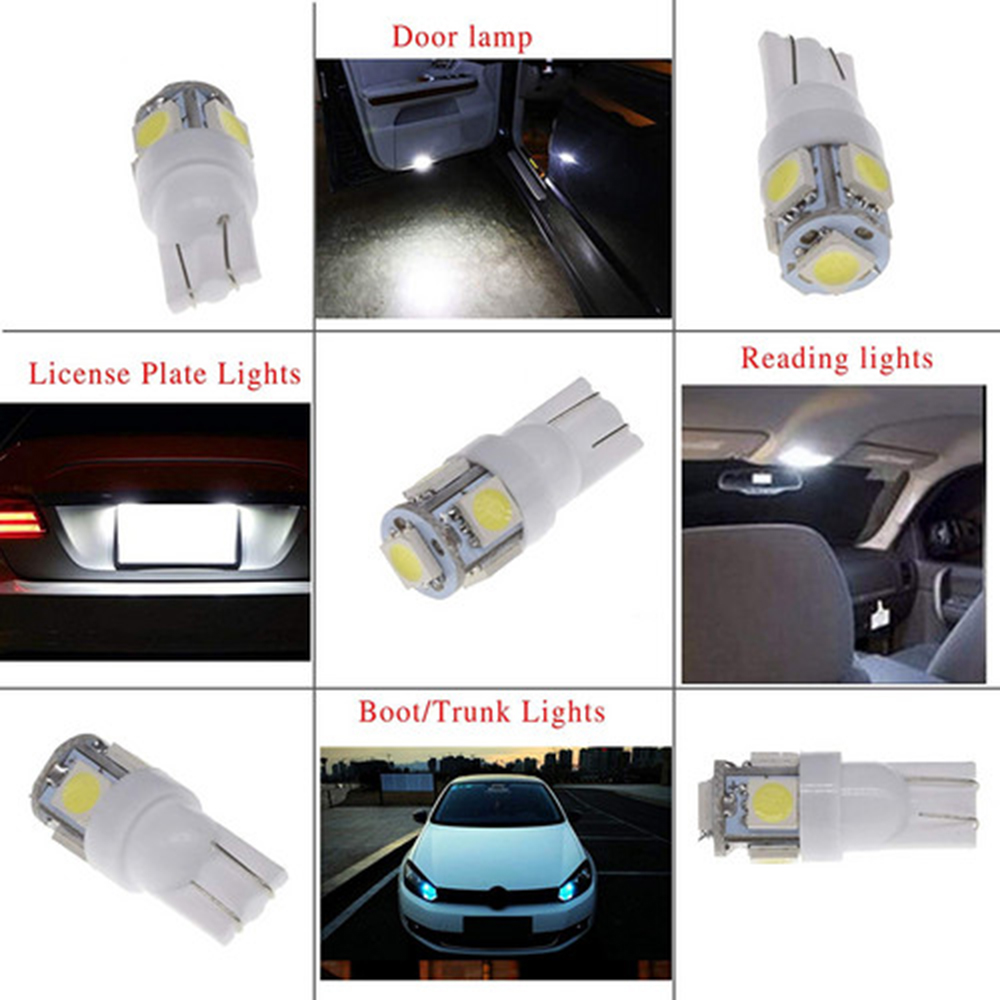 Image 4 - 100PCS New Super Bright White Side Wedge 5 SMD 5050 LED Interior Light 168 194 2825 W5W Free Shipping-in Car Headlight Bulbs(LED) from Automobiles & Motorcycles