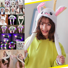 2019 Rabbit Ear Hat Can Move Airbag Magnet Cap Plush Toy Gifts LF88