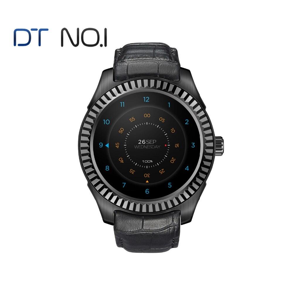 DTNO.1 D7w Android 4.4 Smartwatch Compagnon Montre MT6572 avec 500 mah Capacité De La Batterie Boussole Wifi Smartwatch hommes Personnalisé visage