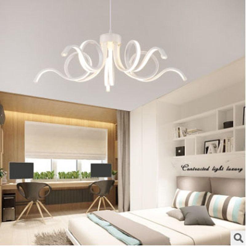 Postmodern LED chandelier creative bedroom living room lamp dining room lamp personality lighting restaurant home lighting lamps цена и фото