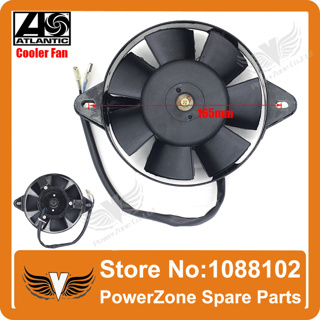 Dirt  Bike Motorcycle ATV Quad Buggy ZONGSHEN LIFAN 165mm Oil Cooler Water Cooler Radiator Electric Cooling Fan  Free Shipping