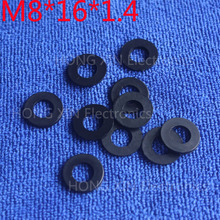 M8*16*1.4 Black 100pcs Nylon Washer Plastic Flat Spacer Washer Thickness circular  round Gasket Ring High Quality circular m6 12 1 2 white 100pcs nylon washer plastic flat spacer washer thickness circular round gasket ring high quality circular