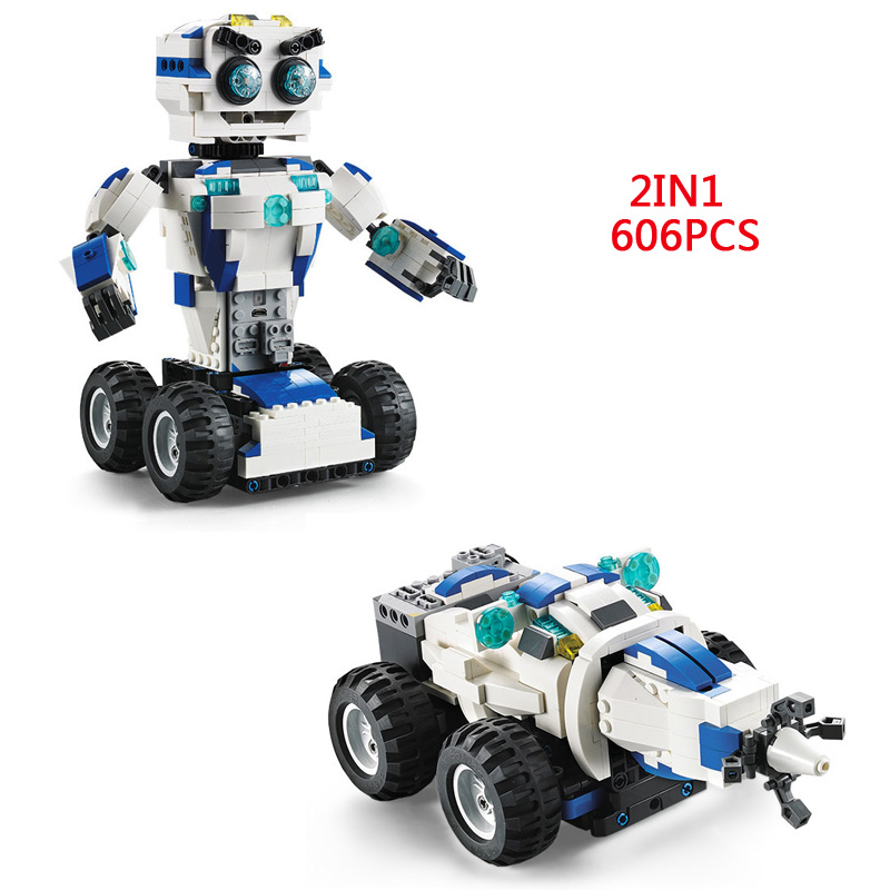 Hot technics remote radio control DADA smart robot building block Ground drill bricks model 2.4Ghz rc toys collection for gifts все цены