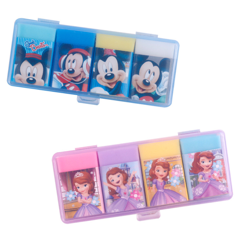 Mickey Sophia Boxed Erasers  Box Set For Kids Student Cartoon Stationery Cute Gifts School Supplies