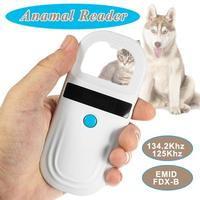 Efficient ISO11785/84 FDX B Pet microchip Scanner Animal RFID Tag Reader dog reader Handheld RFID Reader with Animal Chip