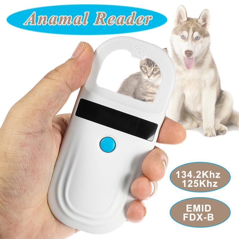 Lecteur efficace d'étiquette de RFID d'animal familier de Scanner de puce d'animal familier de ISO11785/84 FDX-B avec la puce animale