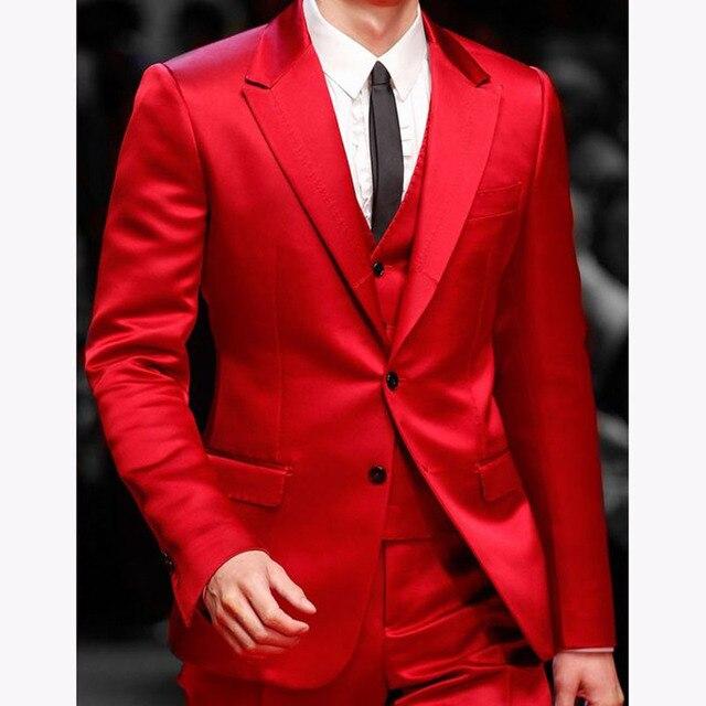 Beau Rouge Hommes Dîner De Bal Costumes 2017 costume homme mariage de  Garçons D honneur 0468db3f4fd