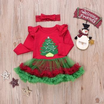 Baby 2018 Christmas Xmas Tree Dress 1