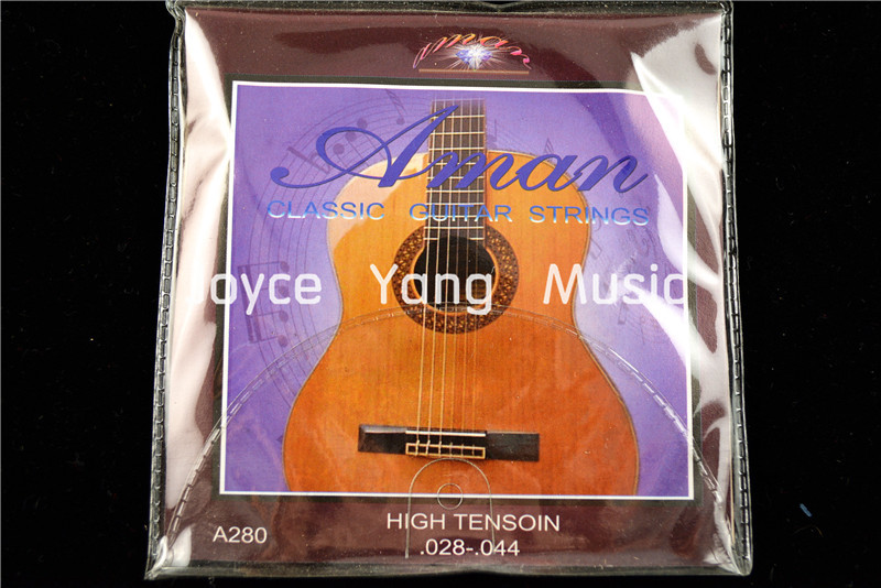 1 Set Of Aman A280 Clear Nylon Classical Guitar Strings 1st-6th 028-044 Hign Tension Strings Free Shipping Wholesales