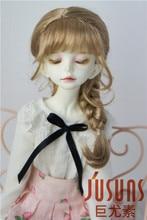 JD243 1/4 MSD syntetiska mohair docka perukar 7-8 tums Teddy Bear Curly BJD hår stil