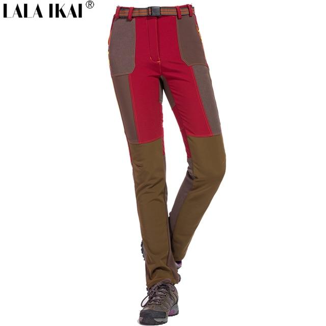 9abf6af089 US $59.79  Pantaloni da trekking Donne Sport Termici Impermeabili Pantaloni  Arrampicata Donna Trekking Invernali All'aperto Pantaloni Campeggio ...