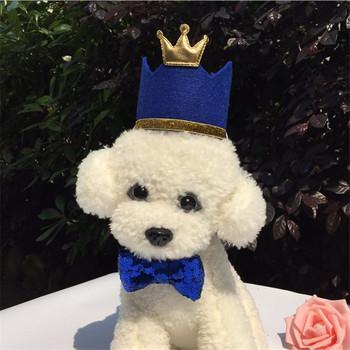 Nowe kapelusze na przyjęcie urodziny dla zwierząt domowych i kotów urodziny korony i kapelusze na przyjęcie urodzinowe dla dzieci kostium na przyjęcie urodzinowe nakrycia głowy tanie i dobre opinie Stałe Poliester TINGHAO