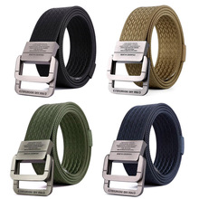 Outdoor Sports Belt  Military Equipment Tactical Men Nylon Fashion Double Ring Buckle Waist