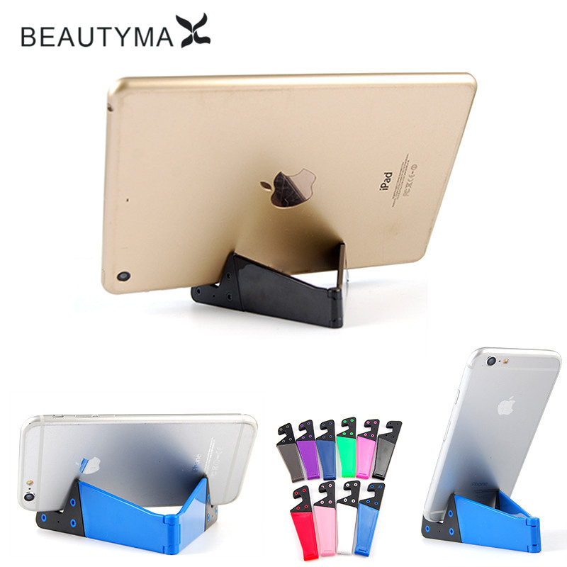 Universal Mini V Tablet phone Holder For iPad/Kindle Android Folded Stand Support For for iPhone 7 5s 6 Samsung note 4 S5 S6 S7