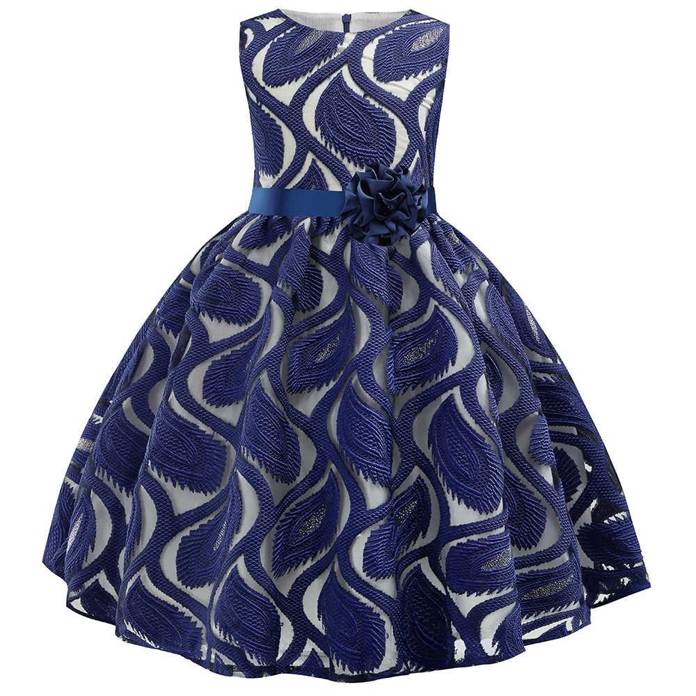 Платье принцессы для маленьких девочек с вышитыми цветами; элегантные праздничные платья на свадьбу; рождественское платье для маленьких девочек; Vestidos; торжественное платье; одежда для детей