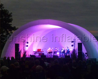 Customized 10x8x6mH outdoor event used giant dome inflatable stage tent white air roof cover structure for sale