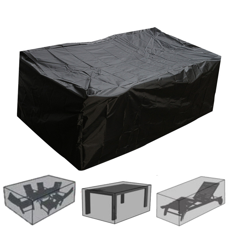 Outdoor Garden Furniture Rain Cover Waterproof Oxford Wicker Sofa Protection Set Garden Patio Rain Snow Dustproof Black CoversOutdoor Garden Furniture Rain Cover Waterproof Oxford Wicker Sofa Protection Set Garden Patio Rain Snow Dustproof Black Covers