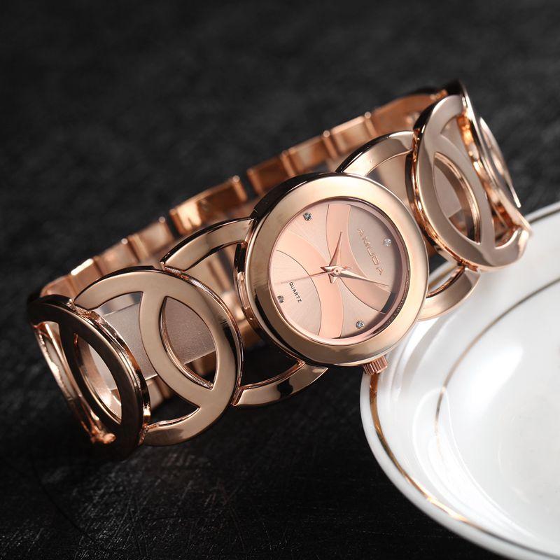 2017 Black Watch Women Luxury Brand Bracelet Ladies Watch Fashion Full Stainless Steel Wristwatch Female Wrist Watch stylish 8 led blue light digit stainless steel bracelet wrist watch black 1 cr2016
