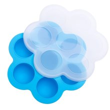 Large Square Ice Cube Mold Ice Cube Trays Silicone Seven-Hole Complementary Food Box Ice Box Storage Box