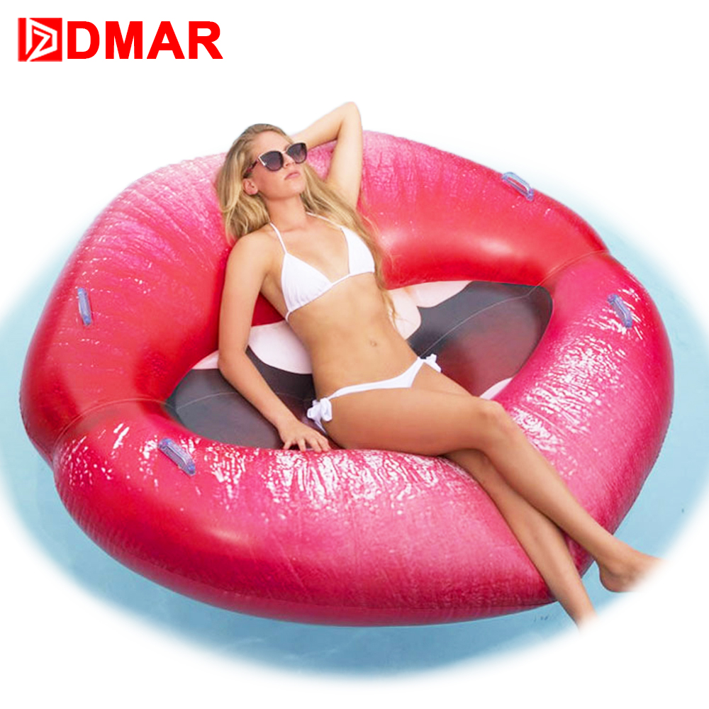 DMAR Sexy Inflatable Lips Mouth Pool Float Toys Inflatable Mattress Swimming Ring Clircle For Adults and Kids Beach Accessories 2017 popular inflatable water slide and pool for kids and adults