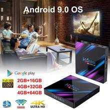 Newest H96 MAX Plus. Android 9.0 4G 32G 64G Set Top Box 4 K Ultra HD H.265 Smart