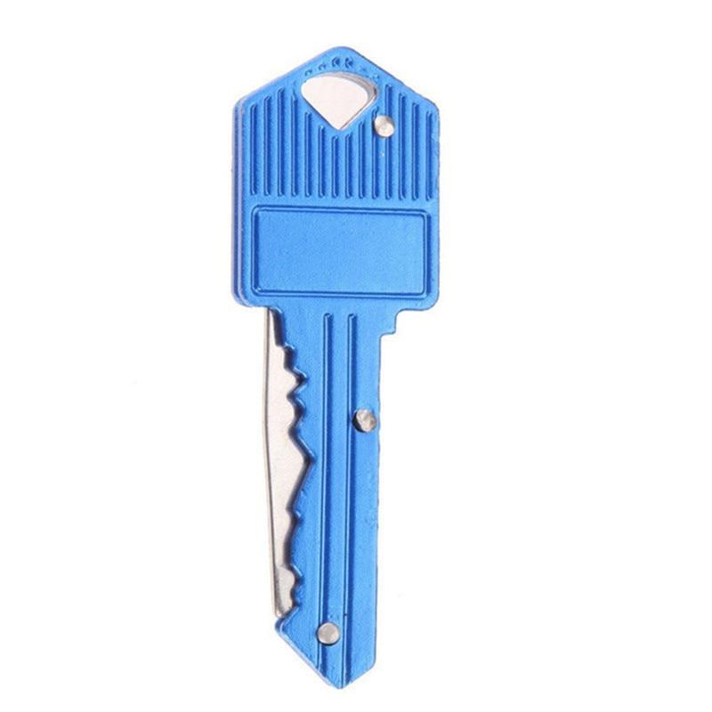 TIMEMORE складной для активных занятий карманные складные ножи ключ подвесной нож Мини Кемпинг кольцо нож инструмент нож 4 цвета - Цвет: Blue
