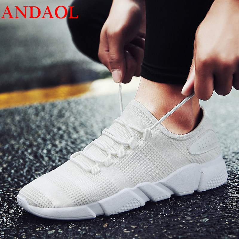 ANDAOL Men 39 s Casual Shoes Top Quality Mesh Breathable Massage Light travel Sneakers Luxury Soft Non Slip Wild Campus Trainers in Men 39 s Casual Shoes from Shoes