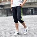 2016 New Summer Men's Casual Capris Multicolor Elastic Waist Casual Loose Pants M~XXL Plus Size Boys Sports Leisure Trousers