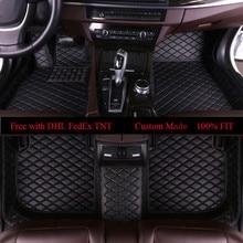 OLPAY Leather Car Floor Mats For Volkswagen For Passat B3 B4 B5 B6 B7 B8 2000-2018 Custom Foot Pads Automobile Carpet Cover Mat