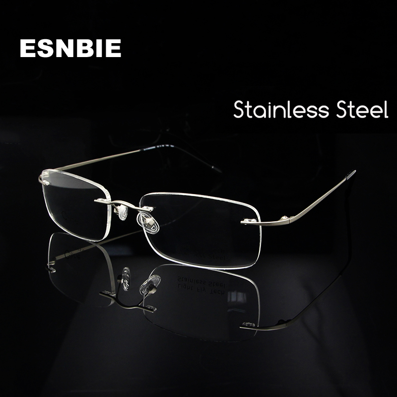 Apparel Accessories Tr90 Eyeglass Frame Silver Half Rim Glasses Man Women Spectacles Rx Able Optical E8189 Brand New Superior Materials