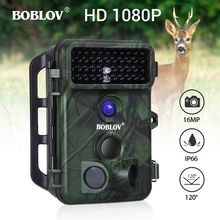 BOBLOV 16MP Trail Camera 49pcs 940nm IR LED Hunting Waterproof Wildlife Night Vision photo traps