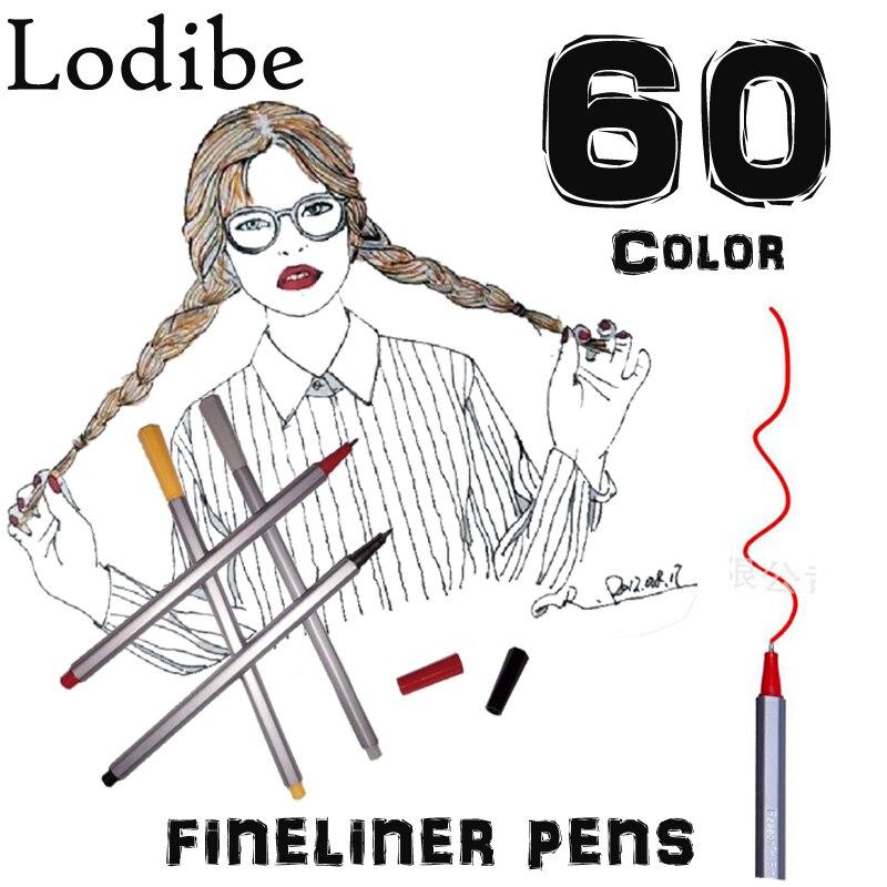 Soucolor Fineliner Farbe Pen-Set, Set von 60 Verschiedene Farben, 0 ...