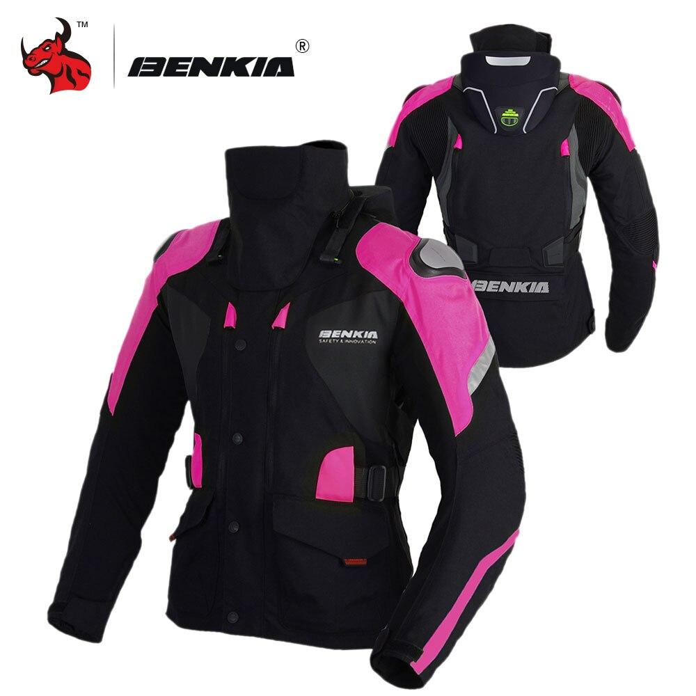 BENKIA мотоциклетная куртка зимняя женская Мото куртка зимняя для верховой езды мотоциклетная утепленная куртка с Linner мотоциклетная защита