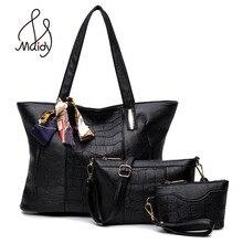 Vintage Brand Layer Women Leather Messenger Bags Shoulder Tote Handbag Composite Snake Skin Bag Set Of