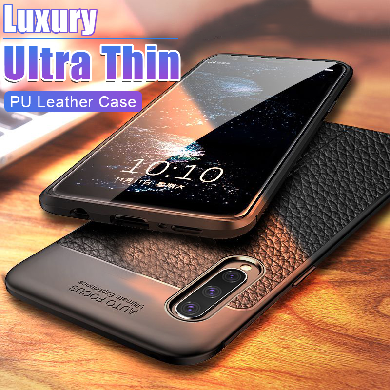 Luxury Soft Phone Case On The For Samsung Galaxy A20 A30 A40 A50 M10 M20 M30 A3 A7 A5 A6 2018 2017 Leather Shockproof Case Cover(China)