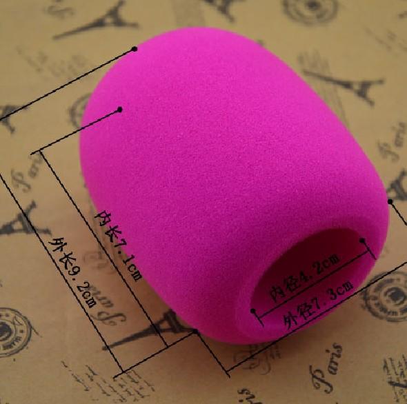 Large Diaphragm Microphone  Foam Sponge Mic Foam Cover Windshield  Welcome Customization Any Shape Logo Free Shipping 1pcs/Lot