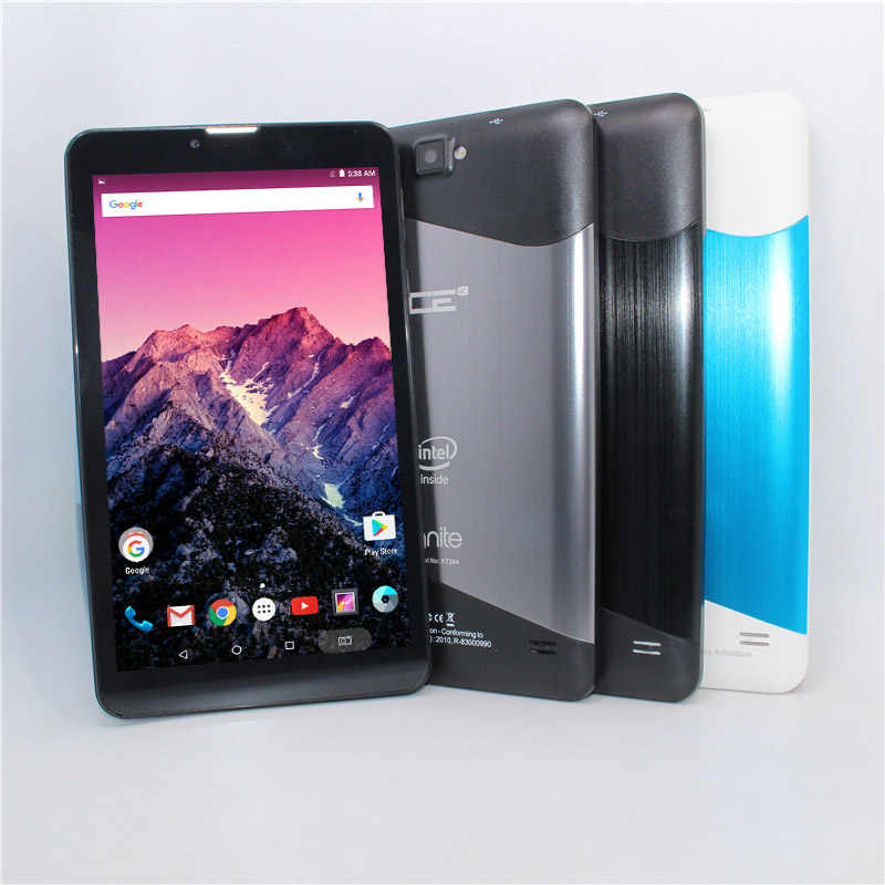 7-inch Tablet PC ondersteuning 3G telefoontje Intel Atom Sofia 3GR Quad Core Andriod 5.1 1 + 8GB Bluetooth 1024x600