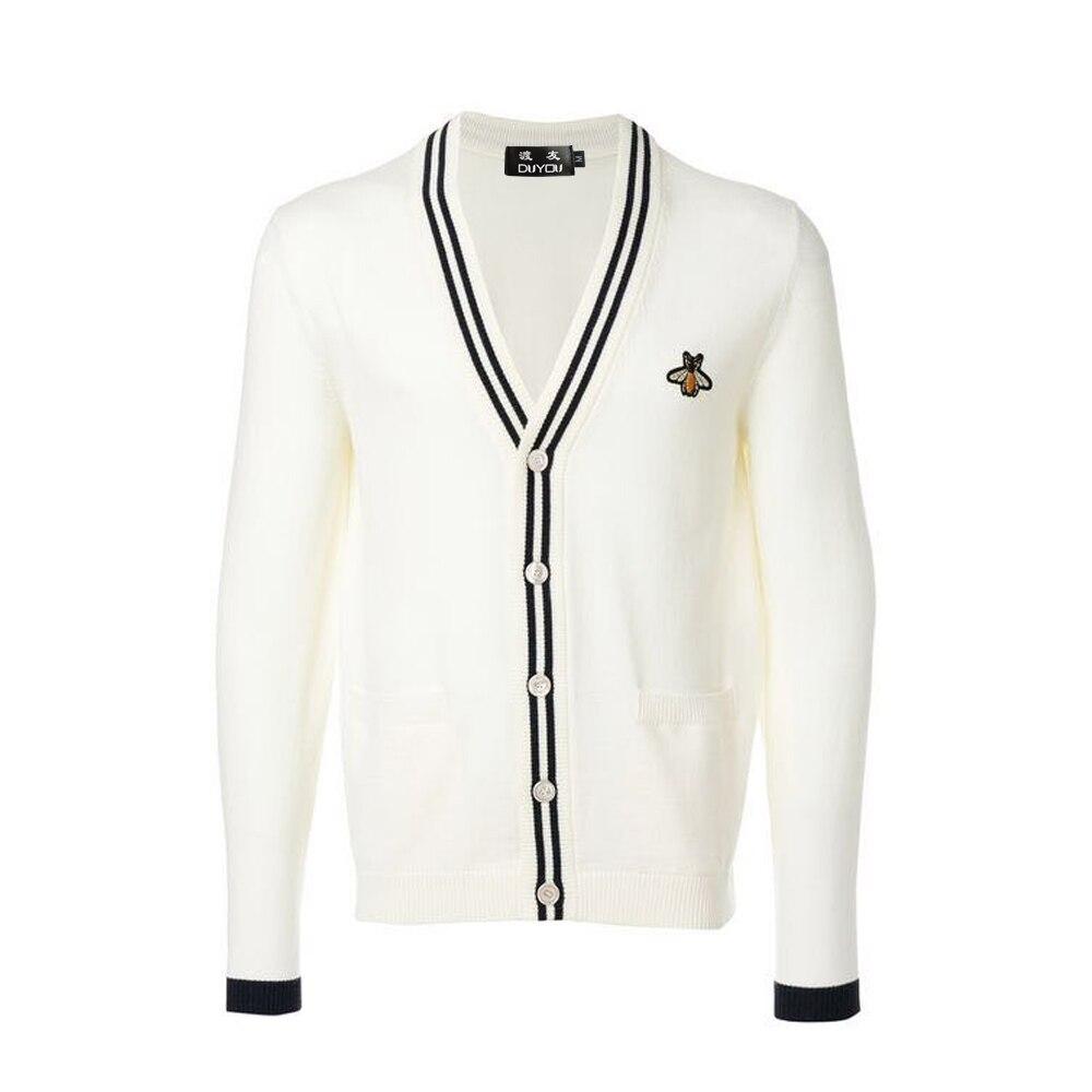 DUYOU Men's Sweater Cardigan Men Designer Sweater Knitting Slim Long Sleeves Clothes Hombre Cardigan Warm Sweater Men DY105604