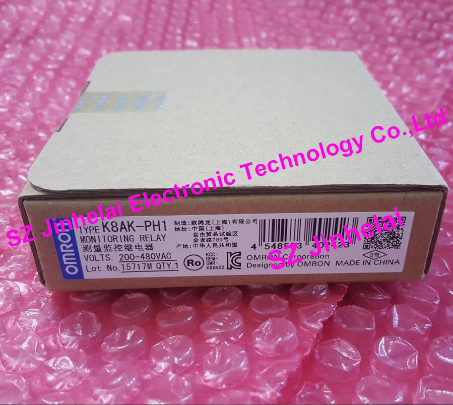 100% New and original  K8AK-PH1  OMRON MONITORING RELAY  200-480V/AC new and original e3x da11 s omron optical fiber amplifier photoelectric switch 12 24vdc