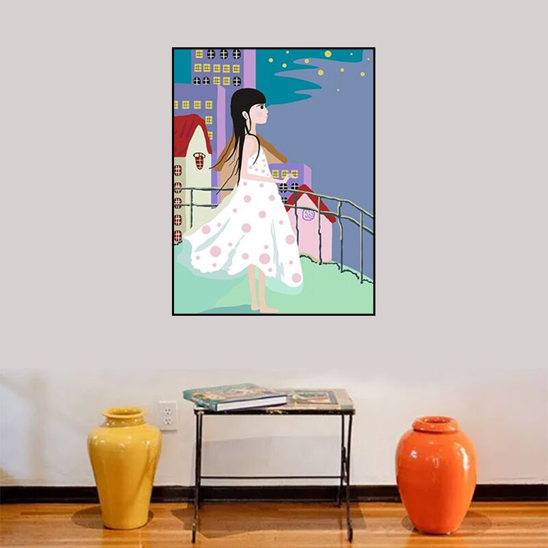 DIY Malerei Durch Zahlinstallationssätze Acryl Bilder Für Wohnzimmer  Wandfarbe Auf Leinwand Ölgemälde Für Wandkunstwerk Mädchen P 0441 In DIY  Malerei Durch ...