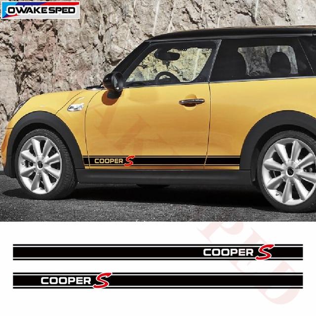 Car Door Side Skirt Racing Stripes For Mini Clubman R56 R60 R61 F54
