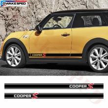 Pegatinas de vinilo a rayas de competición para MINI R56, R60, R61, F54, F55, F56, Cooper S, apto para 3-5 puertas