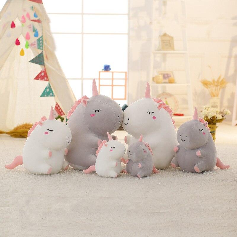 New Arrive Super Cute 1Pc 20-50cm Fat Unicorn Plush Toy Staffed Animal Horse Doll Cartoon Kids Doll Creative Birthday Gift