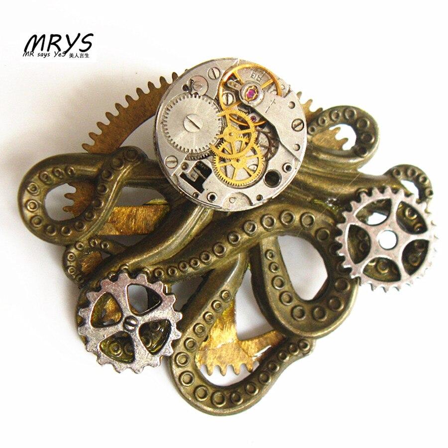 font b steampunk b font gothic rock octopus font b watch b font parts gears